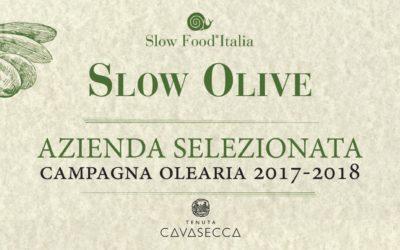 Slow Food Italia: Cavasecca entra nella selezione degli Extravergini dell'annata olearia 2017-2018.